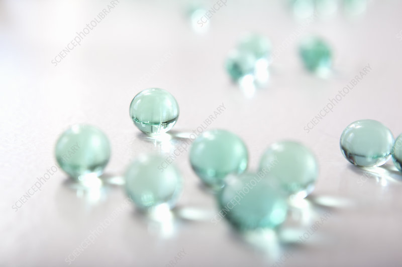 Close up of glass beads