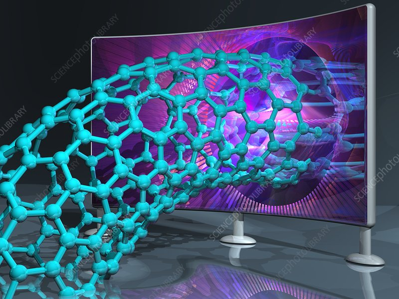 Nanotechnology research, conceptual image