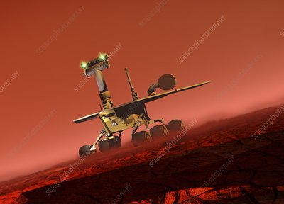 Curiosity rover, artwork