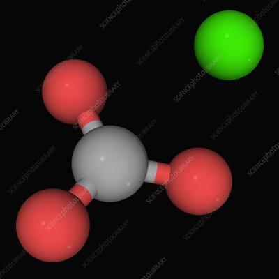 Calcium carbonate molecule - Stock Image F004/5586 ...