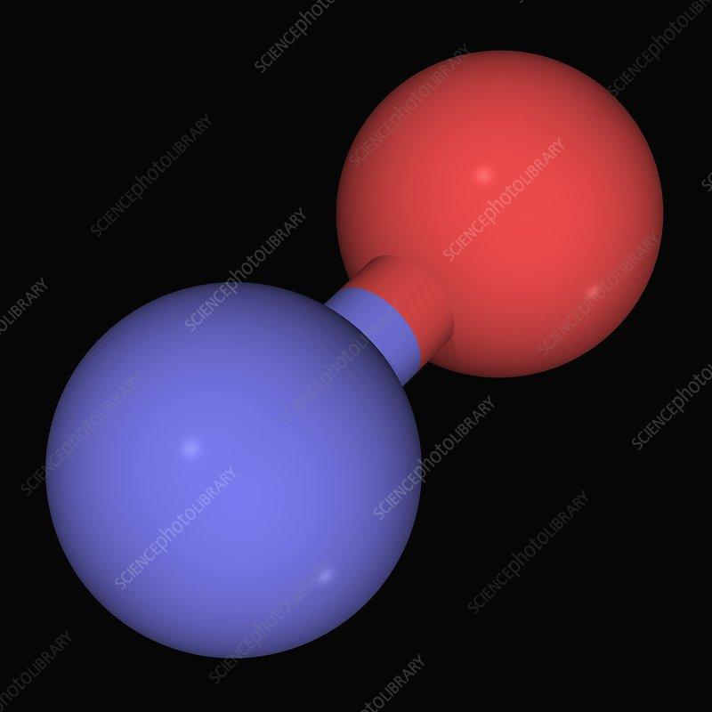 Nitrogen monoxide molecule - Stock Image F004/5895 ...