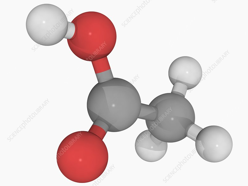 Acetic acid molecule - Stock Image F004/6122 - enlarged - Science ...