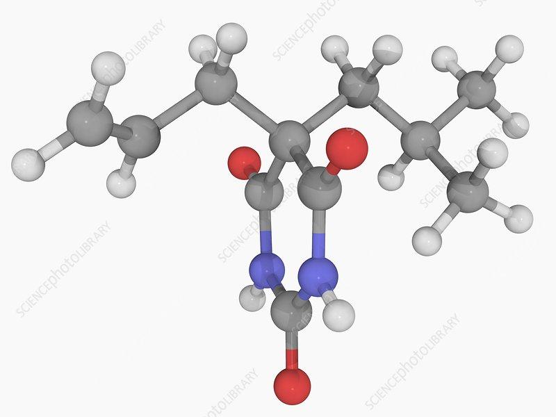 Butalbital drug molecule
