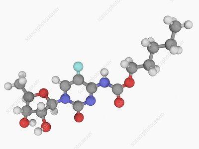 Capecitabine drug molecule