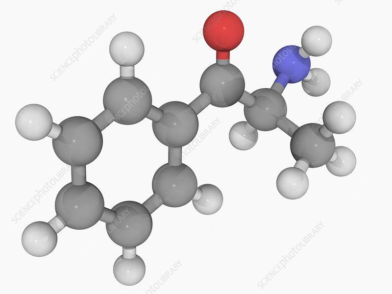 Cathinone drug molecule