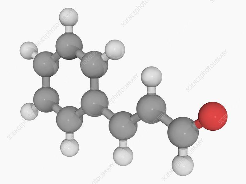 Cinnamaldehyde molecule