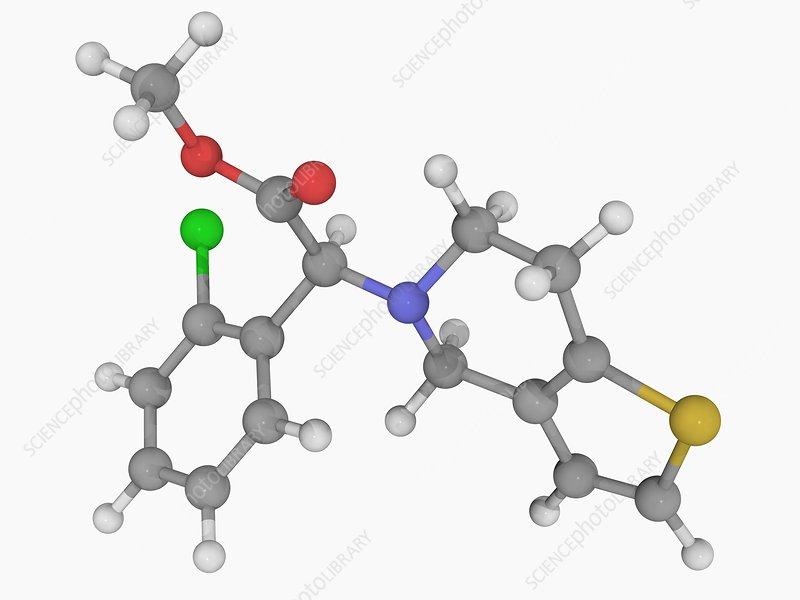 Clopidogrel drug molecule