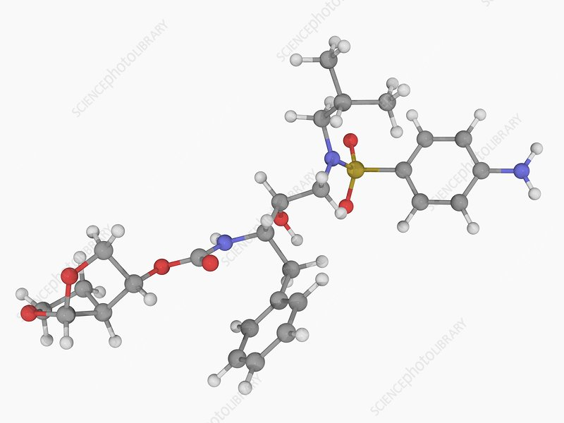Darunavir drug molecule