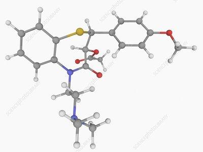 Diltiazem drug molecule