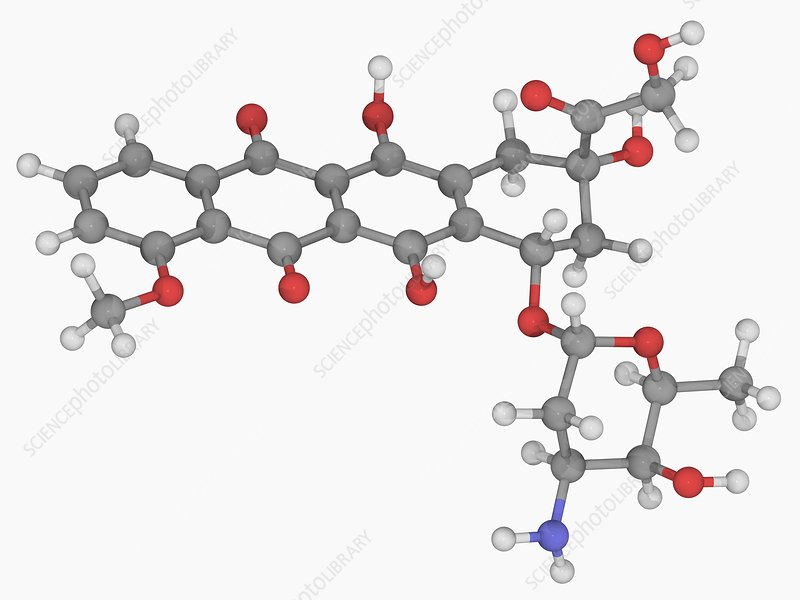 Doxorubicin drug molecule