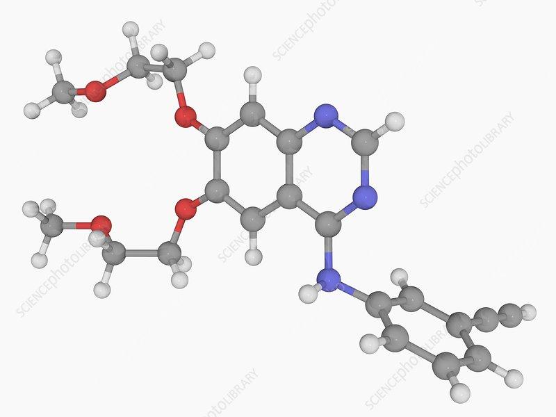 Erlotinib drug molecule