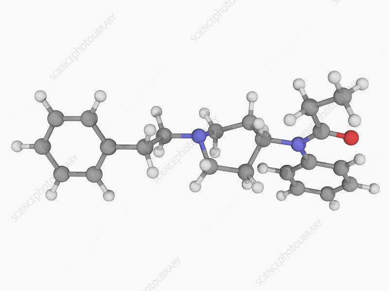 Fentanyl drug molecule