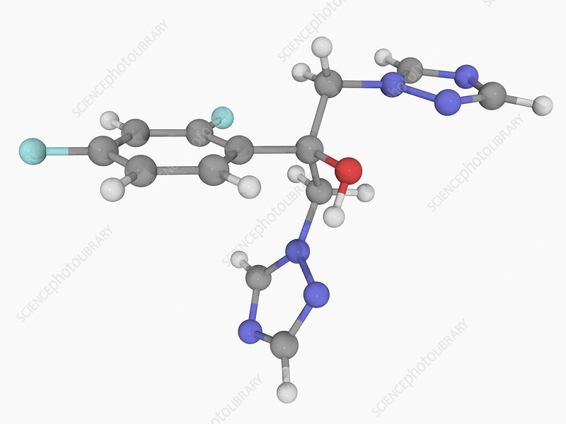 Fluconazole drug molecule