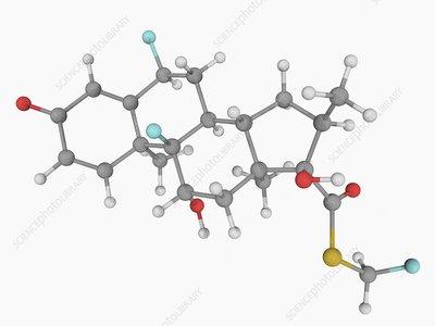 Fluticasone hormone molecule