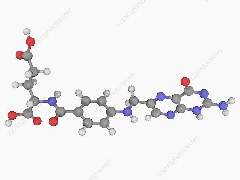 Folic acid vitamin B9 molecule