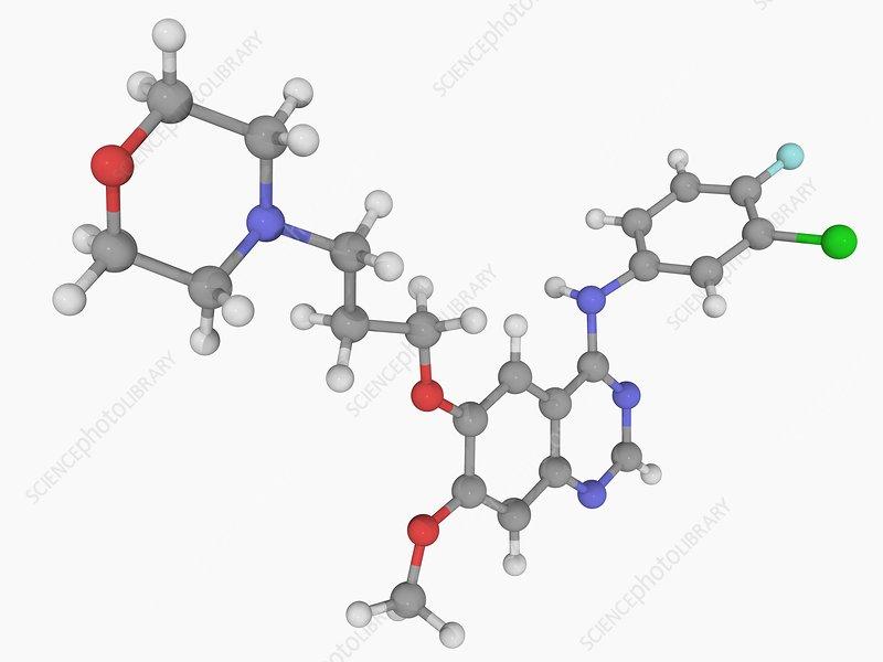 Gefitinib drug molecule