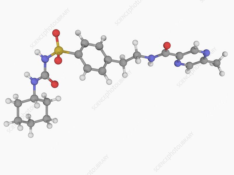 Glipizide drug molecule