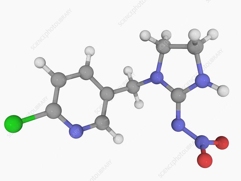 Imidacloprid insecticide molecule
