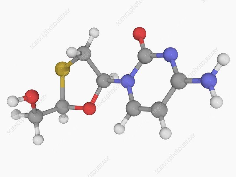 Lamivudine drug molecule