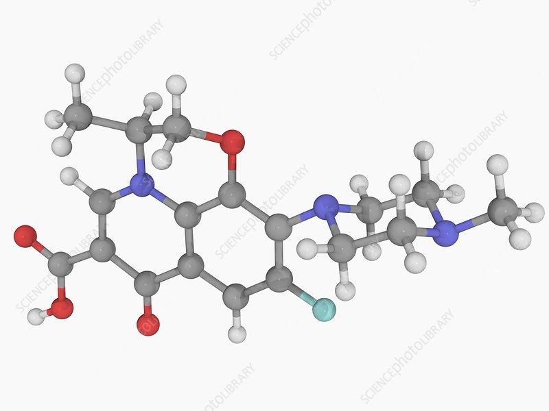 Levofloxacin drug molecule