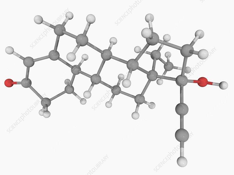 Levonorgestrel drug molecule