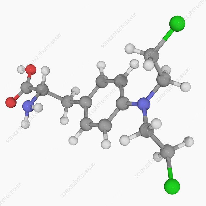 Melphalan drug molecule