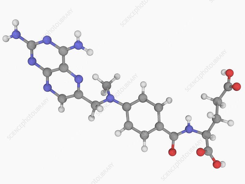 Methotrexate drug molecule