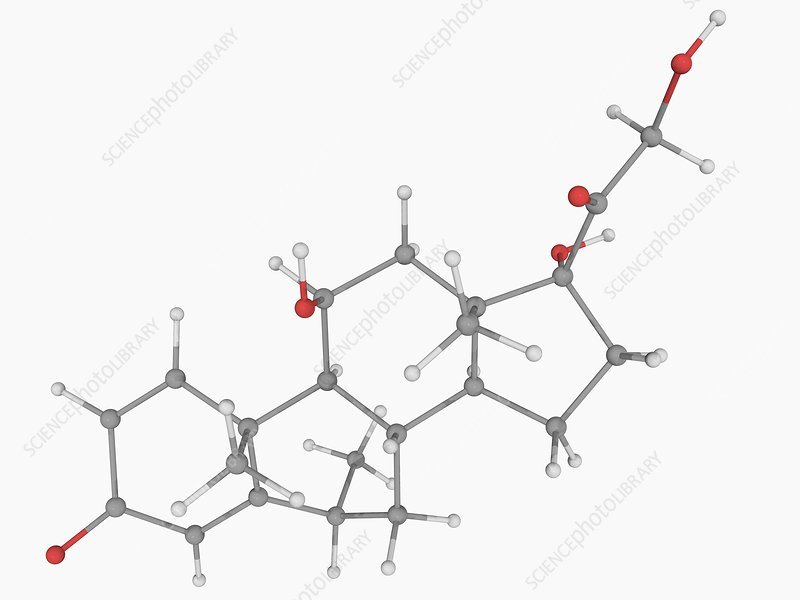 Methylprednisolone drug molecule
