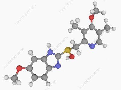 Omeprazole drug molecule