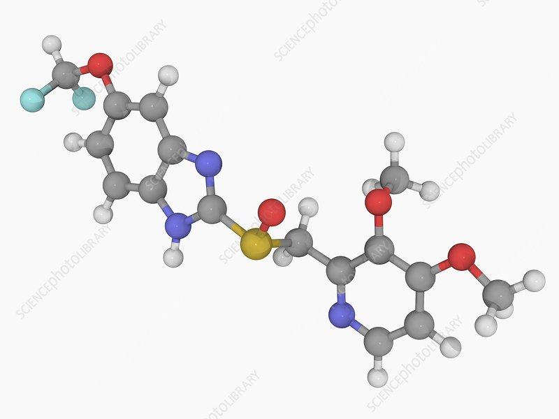 Pantoprazole drug molecule