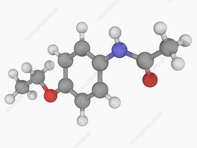 Phenacetin drug molecule