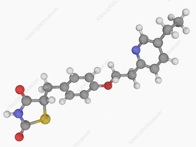 Pioglitazone drug molecule