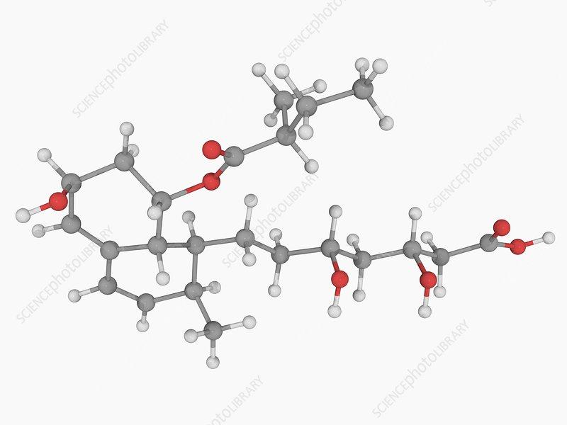 Pravastatin drug molecule