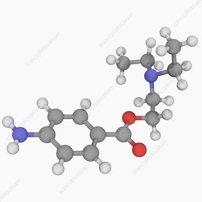 Procaine drug molecule