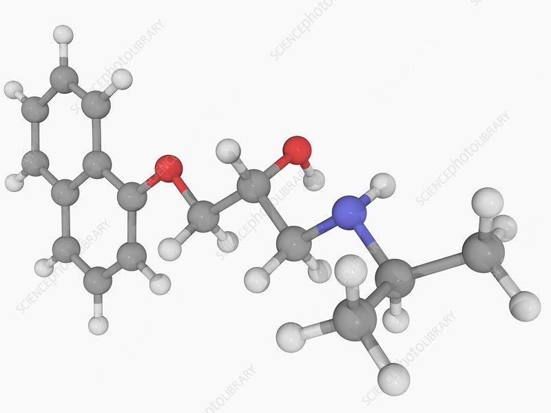 Propanolol drug molecule