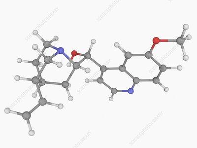Quinine drug molecule