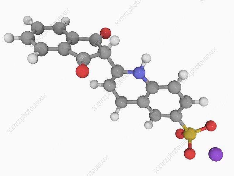 Quinoline yellow E104 molecule