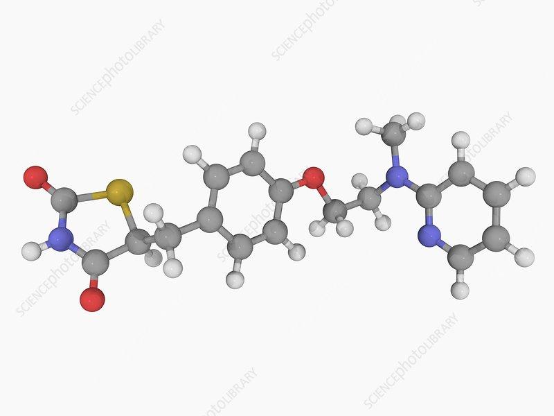 Rosiglitazone drug molecule
