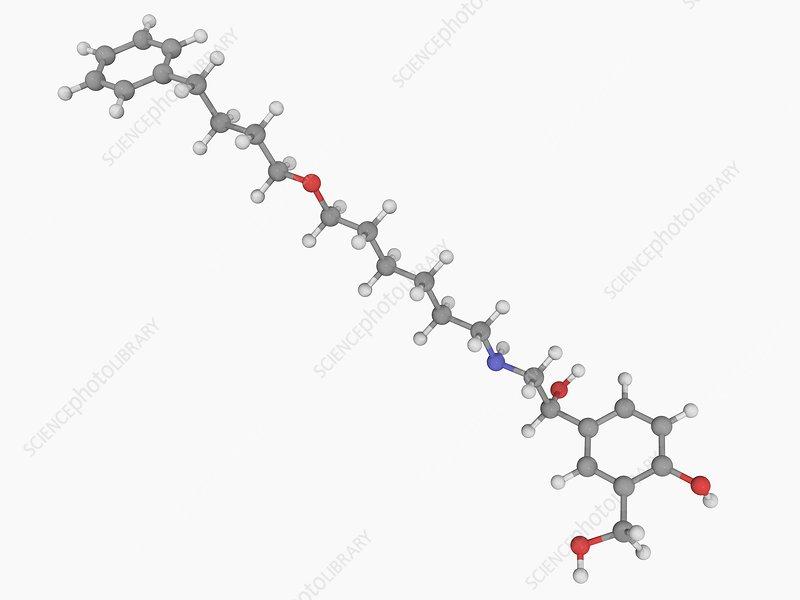 Salmeterol drug molecule