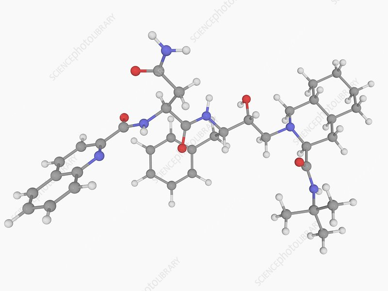 Saquinavir drug molecule
