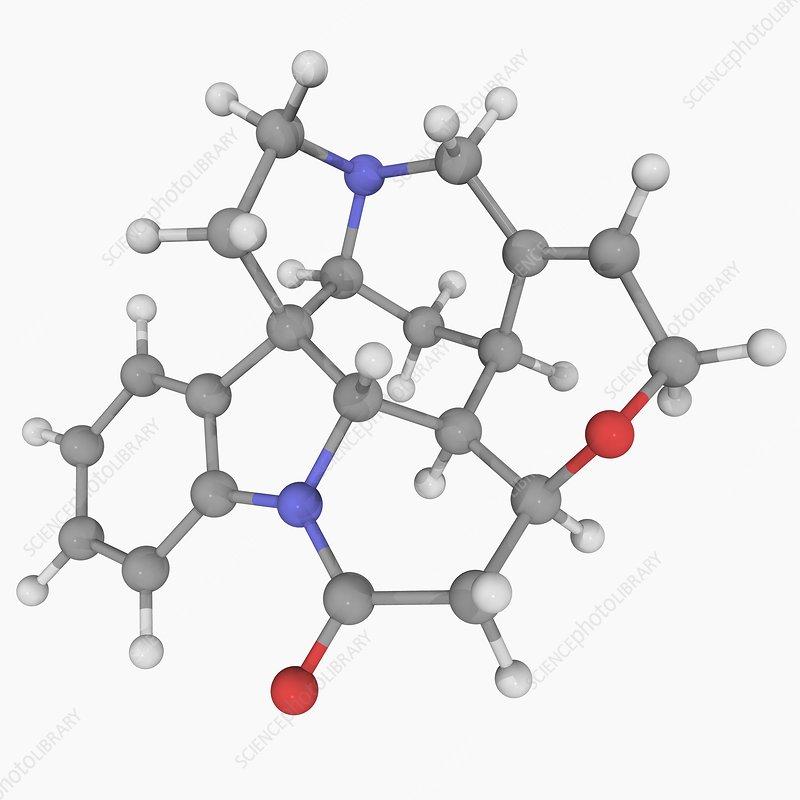Strychnine molecule