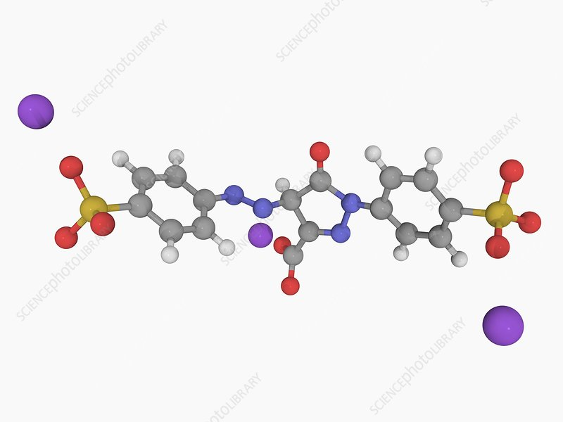 Tartrazine molecule