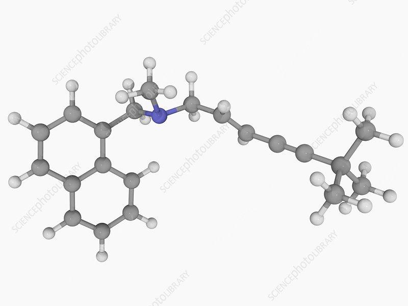 Terbinafine drug molecule