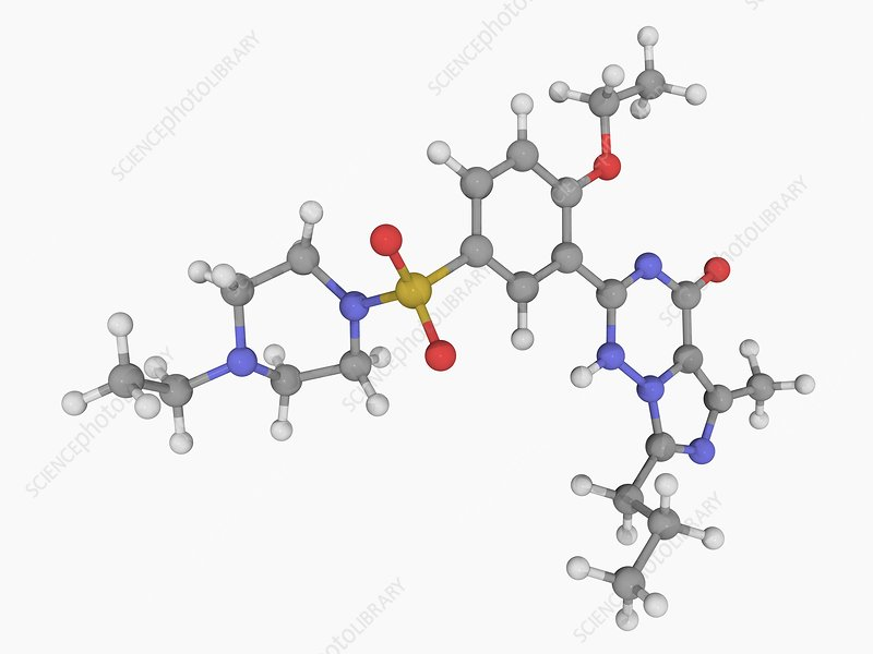 Vardenafil drug molecule