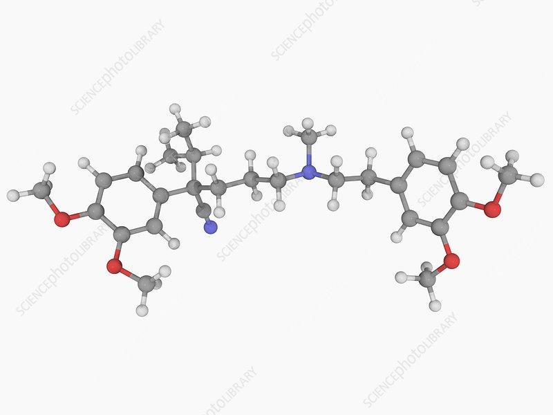 Verapamil drug molecule