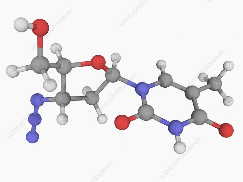 Zidovudine drug molecule