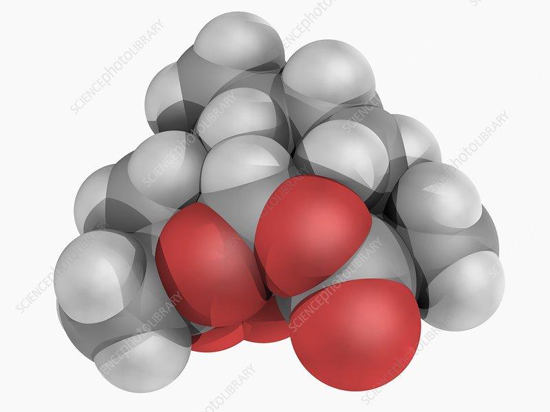 Artemisinin drug molecule
