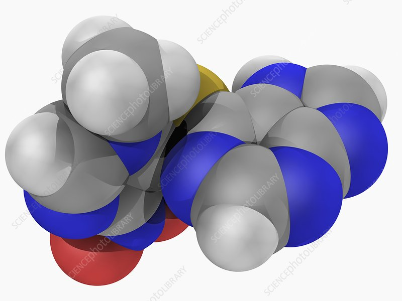 Azathioprine drug molecule
