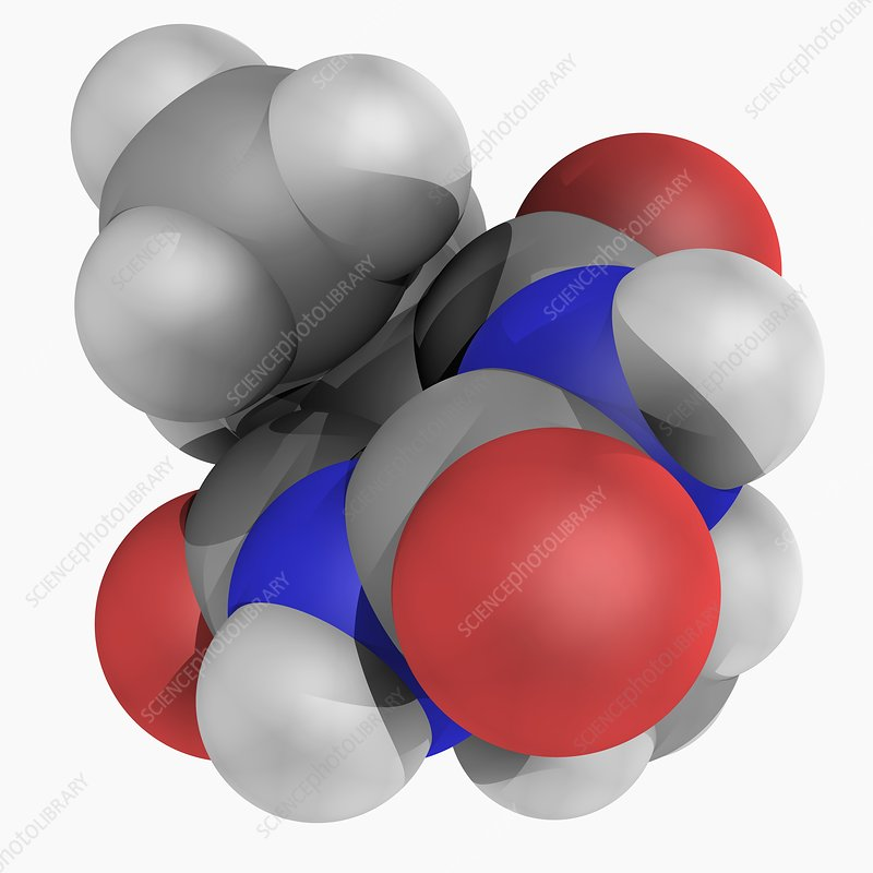 Barbital drug molecule