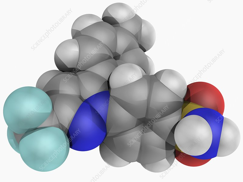Celecoxib drug molecule